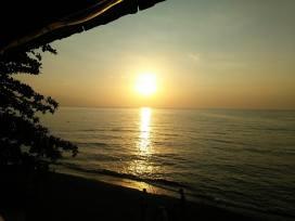 Sunset from Villa Agung Beach Inn